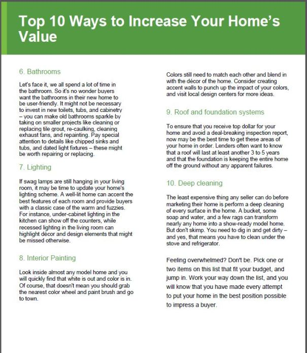 Good Morning Lakewood/Increase the Value of Your Home